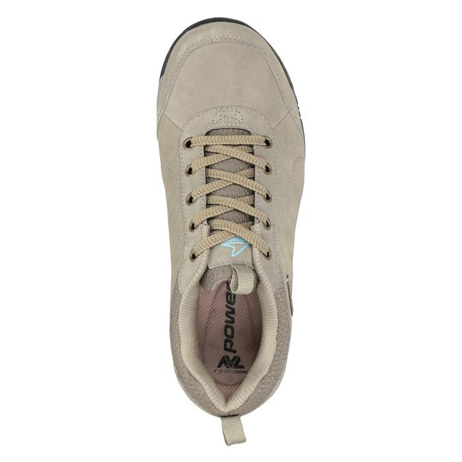 Kožená obuv v outdoor stylu power, béžová, 503-3848 - 15