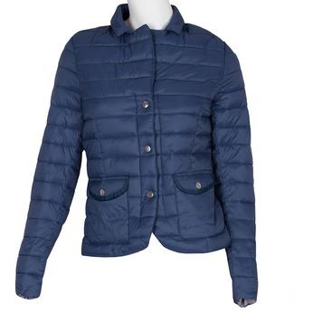 Modrá prošívaná bunda s límečkem bata, modrá, 979-9182 - 13