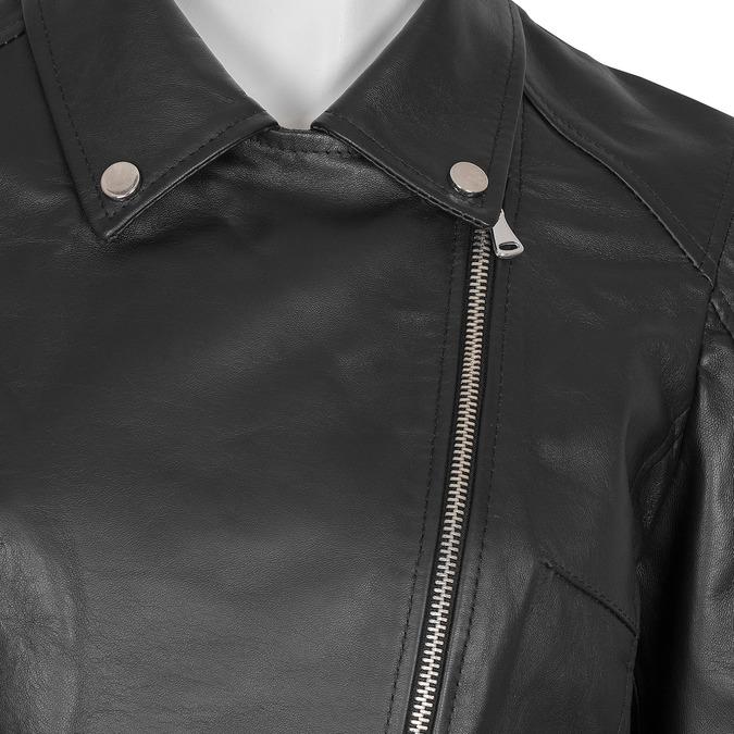 Kožená dámská bunda křivák bata, černá, 974-6123 - 16