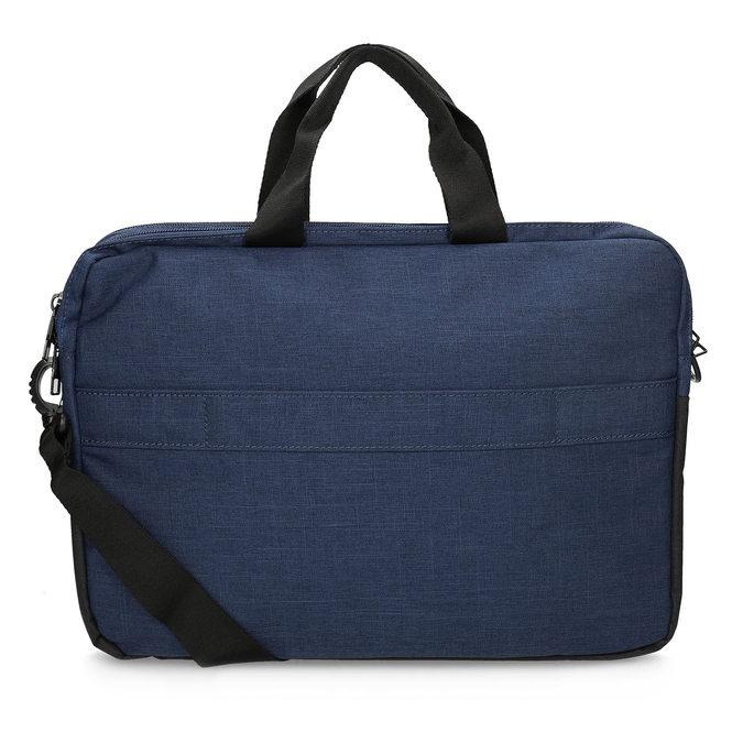 Černo-modrá taška na notebook roncato, modrá, 969-9698 - 16