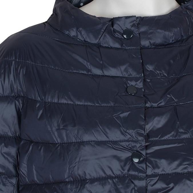 Prošívaný kabátek s tříčtvrtečním rukávem bata, modrá, 979-9147 - 16