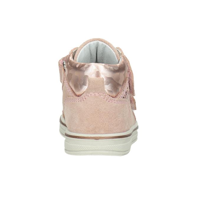 Dětská kotníčková kožená obuv dívčí bubblegummers, růžová, 123-5606 - 16
