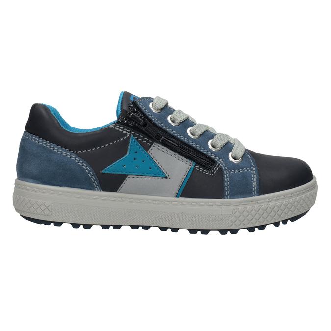 Chlapecké kožené tenisky modré mini-b, modrá, 416-9603 - 26