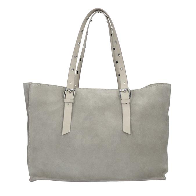 Kožená šedá kabelka se cvočky bata, šedá, 963-2194 - 16