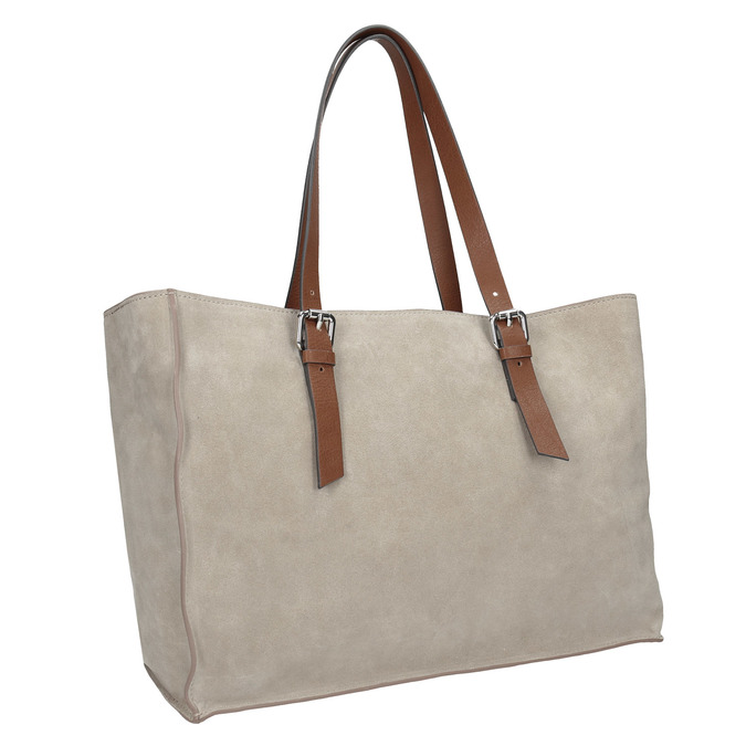 Kožená kabelka béžovo-hnědá bata, béžová, 2021-963-8194 - 13