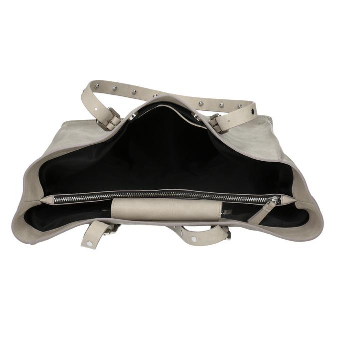Kožená šedá kabelka se cvočky bata, šedá, 963-2194 - 15