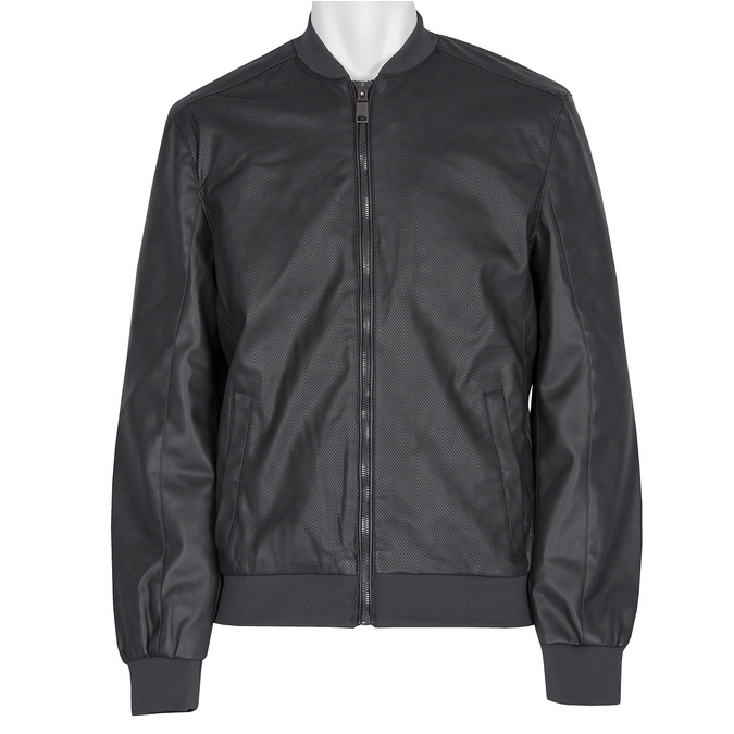 Pánská bunda s perforací bata, černá, 971-9197 - 13