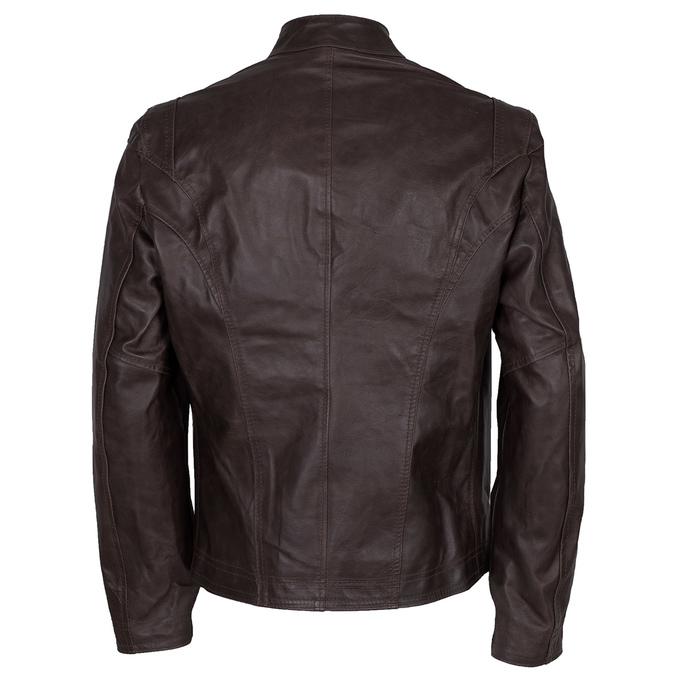 Hnědá kožená bunda pánská bata, hnědá, 974-4154 - 26