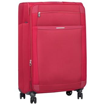 Červený cestovní kufr na kolečkách samsonite, červená, 969-5343 - 13