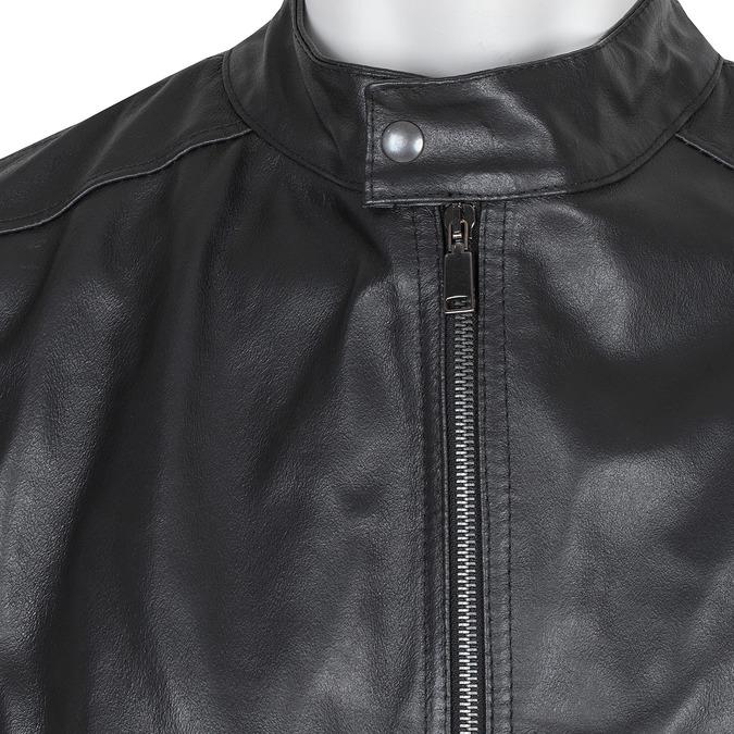 Pánská kožená bunda černá bata, černá, 974-6134 - 16