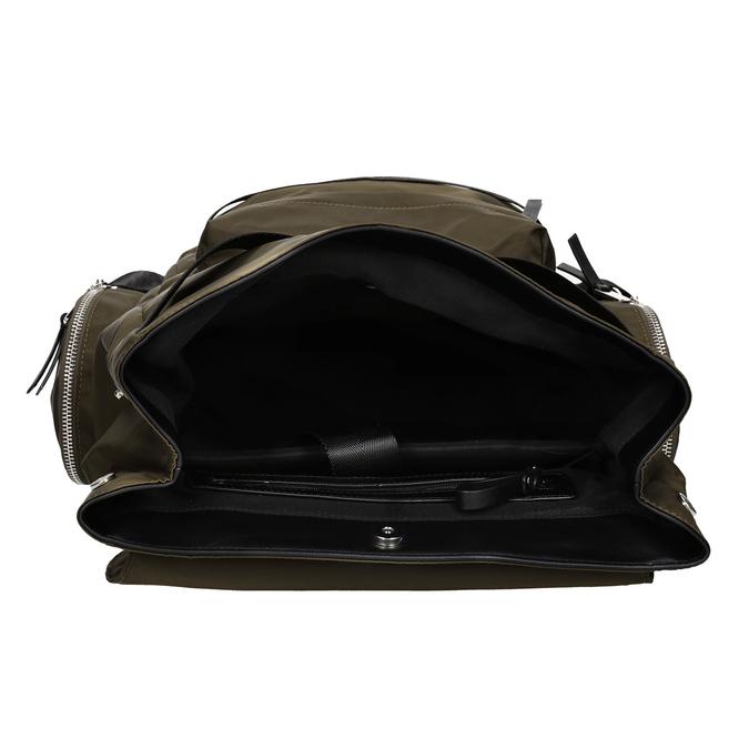 Textilní pánský batoh khaki atletico, khaki, 969-3677 - 15