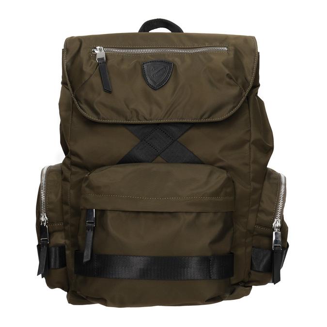 Textilní pánský batoh khaki atletico, khaki, 969-3677 - 26