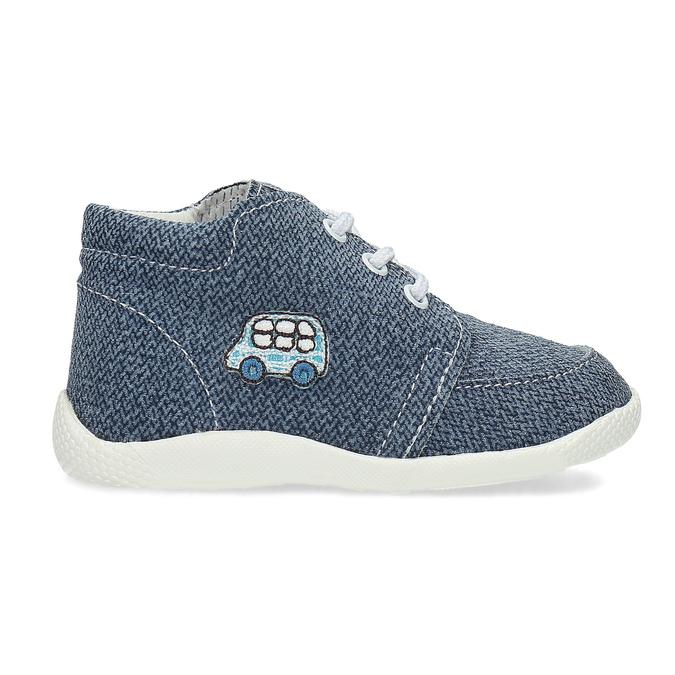 Dětské kotníčkové tenisky bata, modrá, 113-9609 - 19
