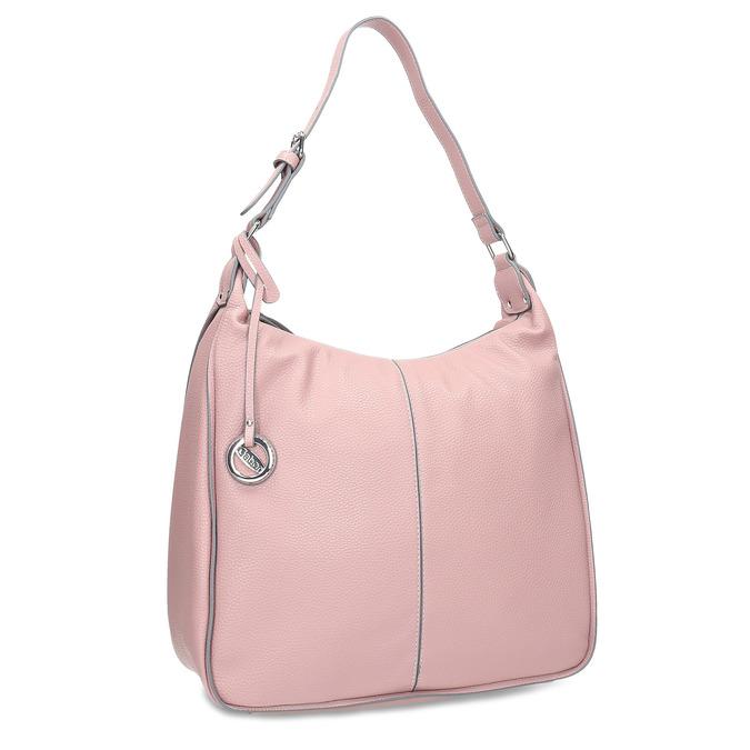 Růžová dámská kabelka v Hobo stylu gabor-bags, růžová, 961-5439 - 13