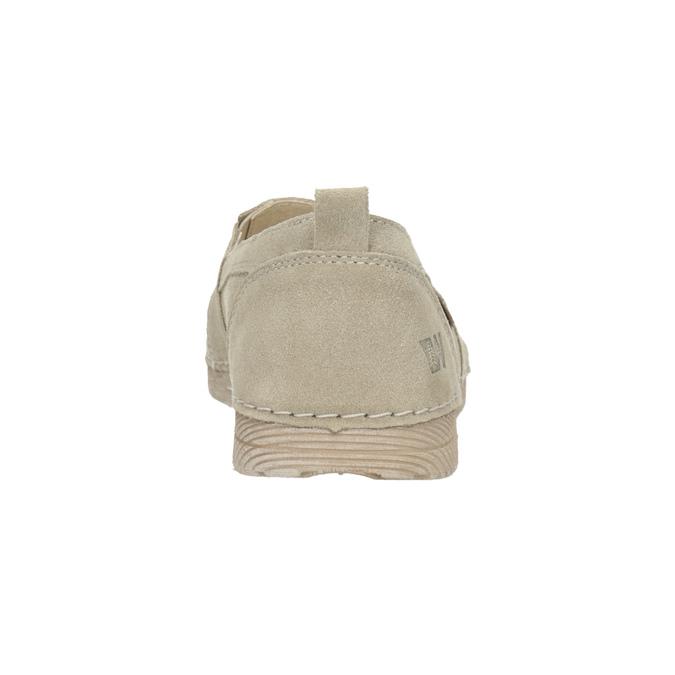 Kožená dámská Slip-on obuv weinbrenner, béžová, 536-8607 - 15