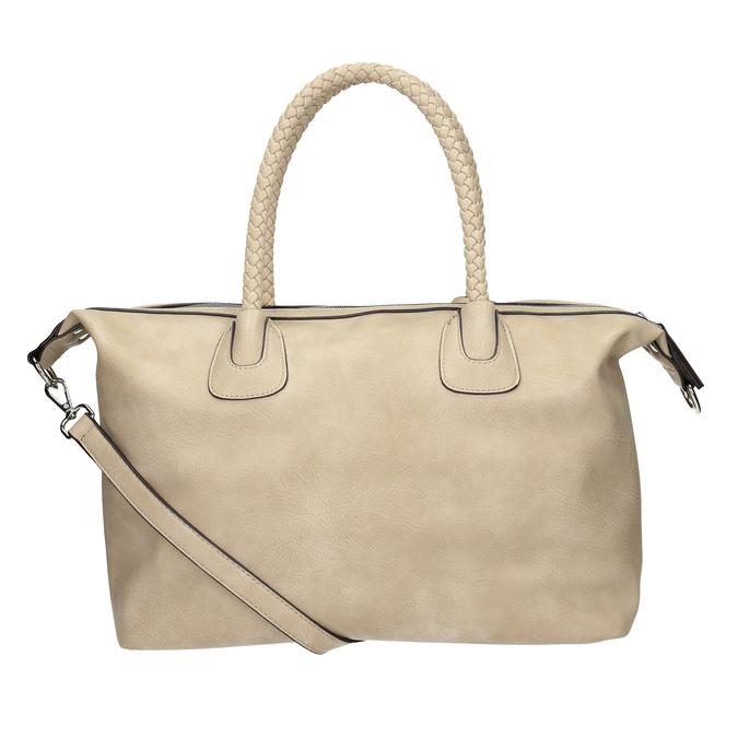 Dámská kabelka s perforací a střapcem bata, béžová, 961-8827 - 16