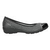 Kožené dámské baleríny comfit, černá, 526-6661 - 26