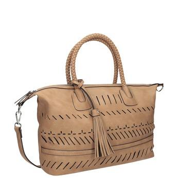 Hnědá dámská kabelka s perforací bata, hnědá, 961-4827 - 13