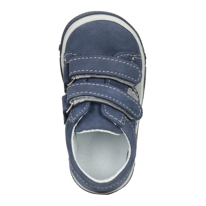 Kožená dětská obuv na suché zipy bubblegummers, 116-9607 - 15