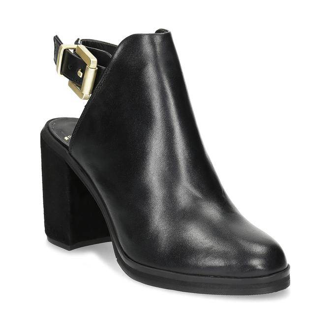 Kožená obuv na masivním podpatku royal-republiq, černá, 524-6020 - 13