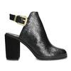 Kožená obuv na masivním podpatku royal-republiq, černá, 524-6020 - 19