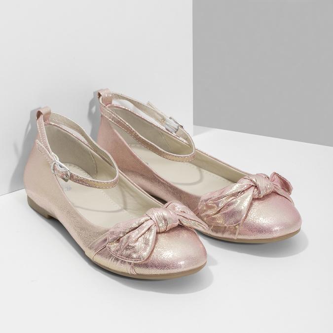 Růžové baleríny s velkou mašlí mini-b, růžová, 329-5227 - 26