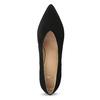 Černé lodičky do špičky z broušené kůže bata, černá, 723-6608 - 17
