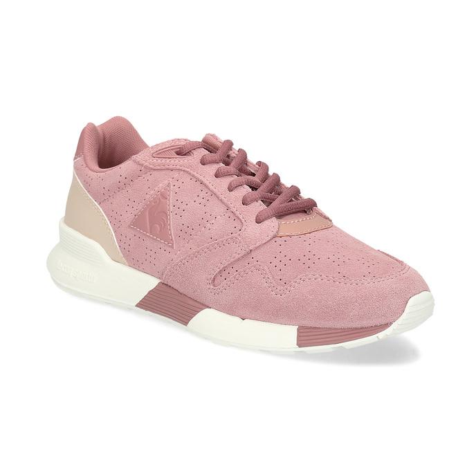 Růžové dámské tenisky z broušené kůže le-coq-sportif, růžová, 503-5309 - 13