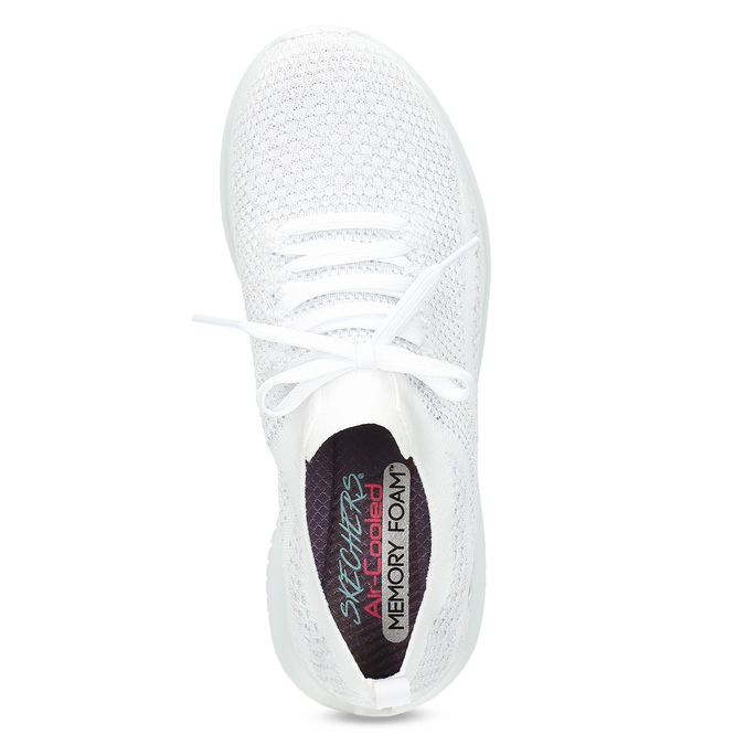 Bílé úpletové tenisky dámské skechers, bílá, 509-1992 - 17