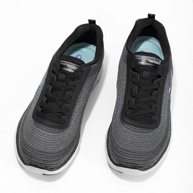 Dámské tenisky s výrazným prošíváním skechers, černá, 509-6115 - 16