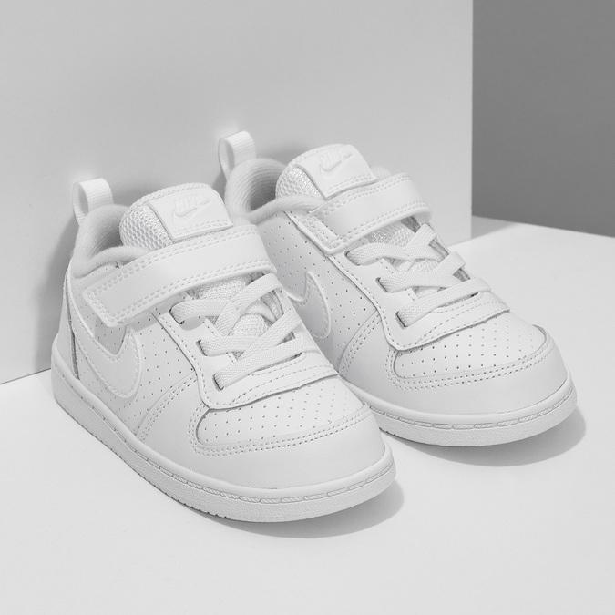 Bílé dětské tenisky se suchým zipem nike, bílá, 101-1154 - 26