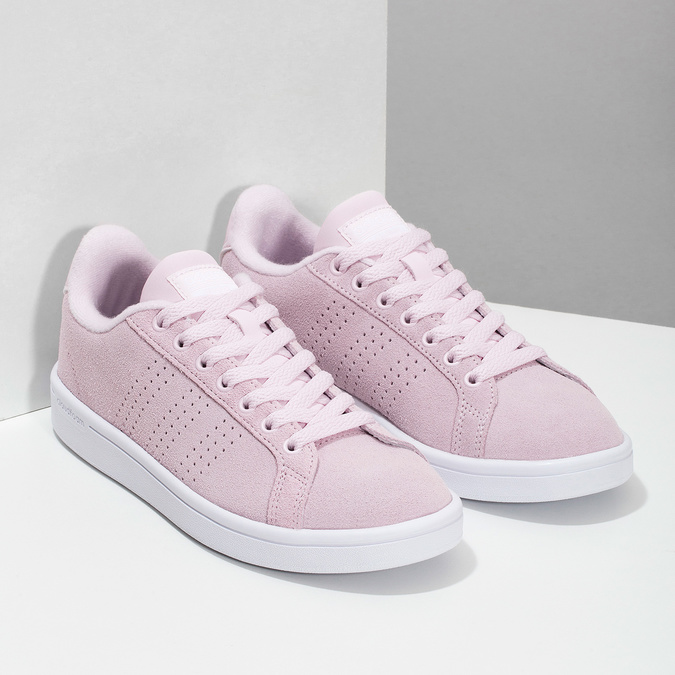 Růžové kožené tenisky dámské adidas, růžová, 503-5478 - 26