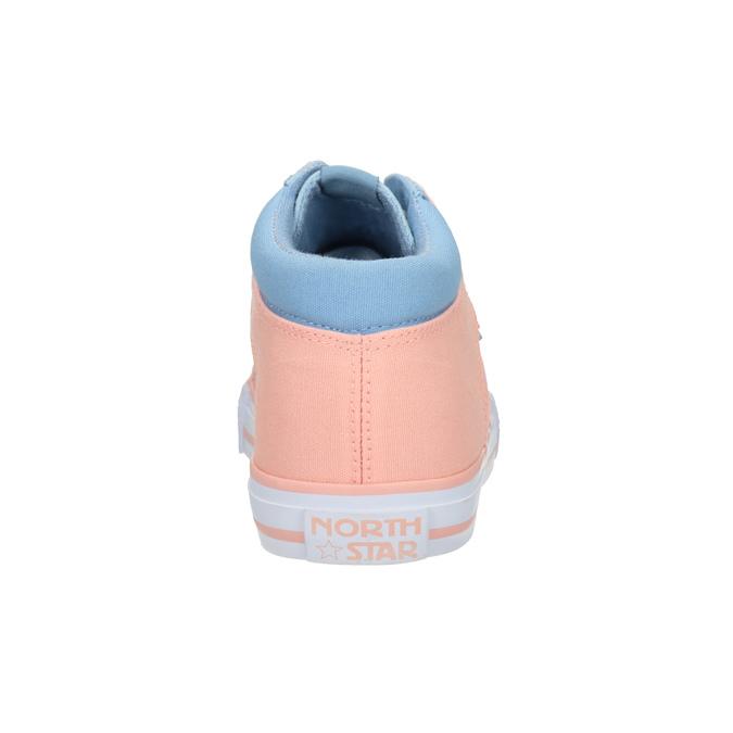 Kotníčkové tenisky v Ombre stylu north-star, růžová, 549-5609 - 16