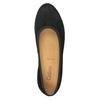 Lodičky na klínku z broušené kůže gabor, černá, 713-6063 - 15