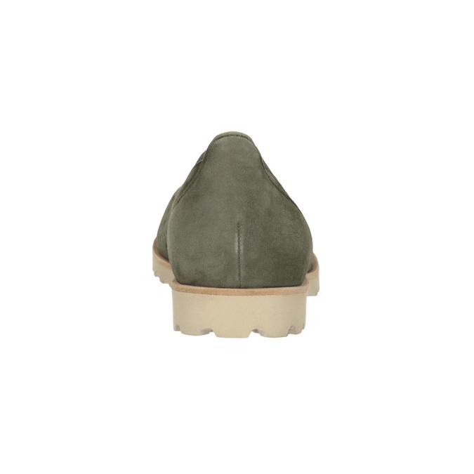 Khaki baleríny s perforací gabor, khaki, 523-7010 - 16