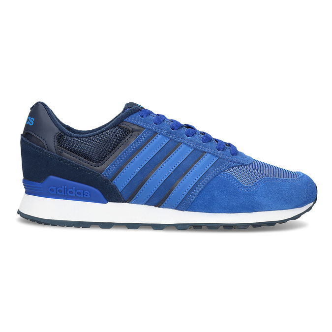 Modré kožené tenisky Adidas adidas, modrá, 803-9293 - 19