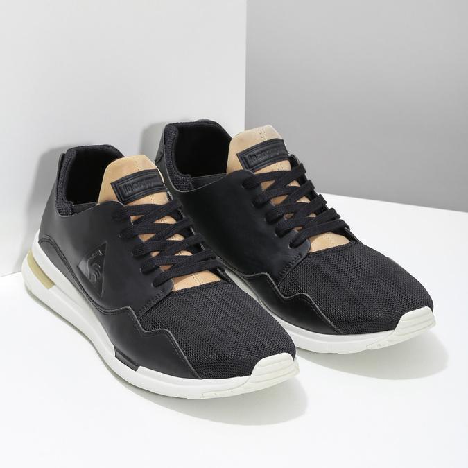 Černo-zlaté pánské tenisky le-coq-sportif, černá, 801-6234 - 26