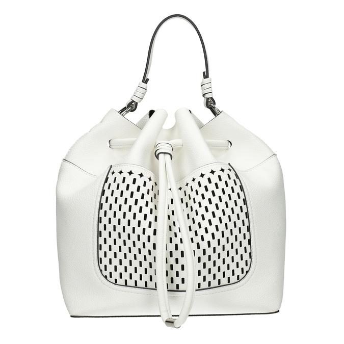 Bílá Bucket Bag kabelka bata, bílá, 961-1298 - 26