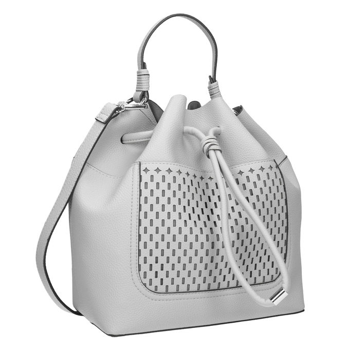 Šedá Bucket Bag kabelka bata, bílá, 961-2298 - 13