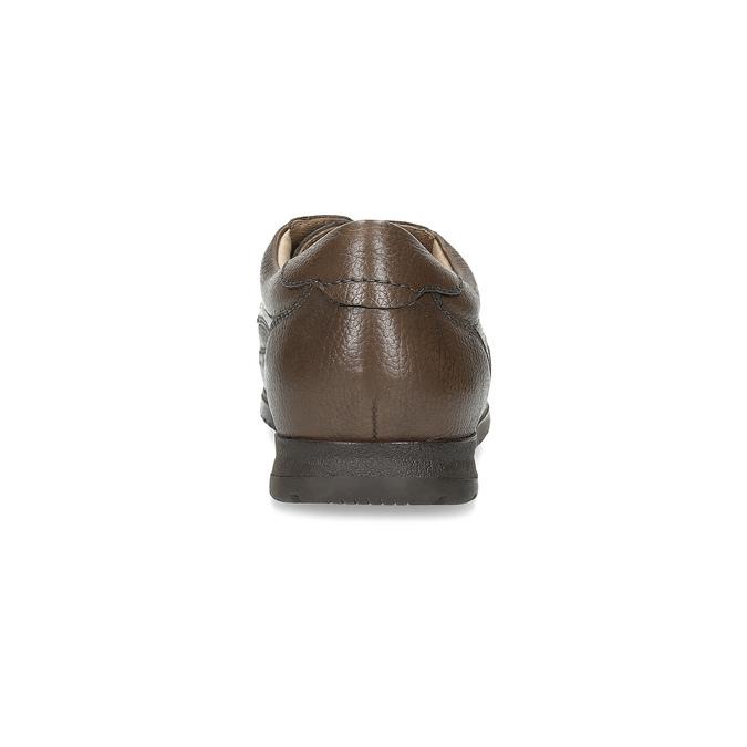 Pánské kožené polobotky s pohodlnou podešví comfit, hnědá, 824-4996 - 15