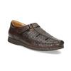Pánské kožené sandály s pohodlnou podešví comfit, hnědá, 854-4602 - 13