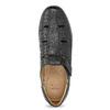 Kožené pánské sandály s pohodlnou podešví černé comfit, černá, 854-6602 - 17
