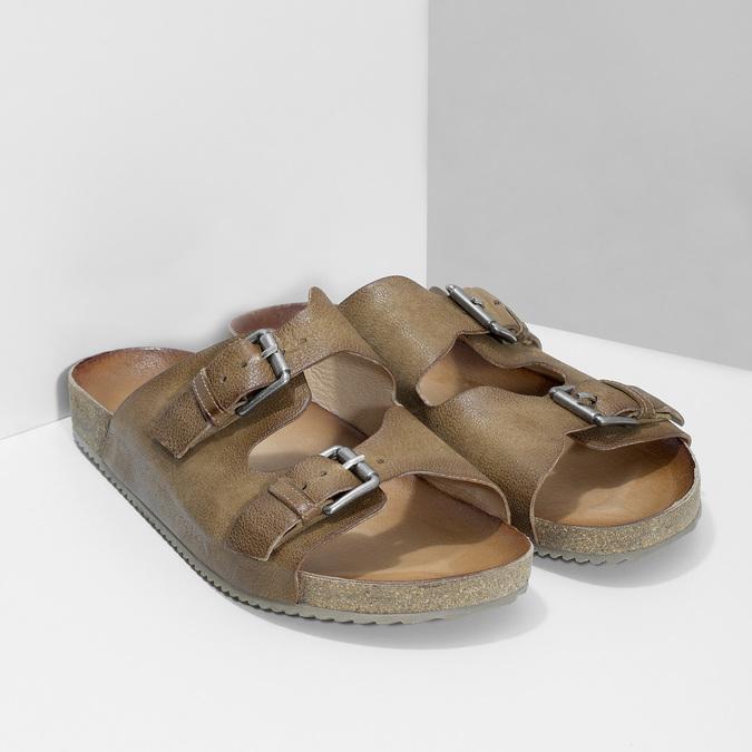 Pánské kožené nazouváky bata, hnědá, 866-4648 - 26