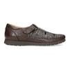 Pánské kožené sandály s pohodlnou podešví comfit, hnědá, 854-4602 - 19