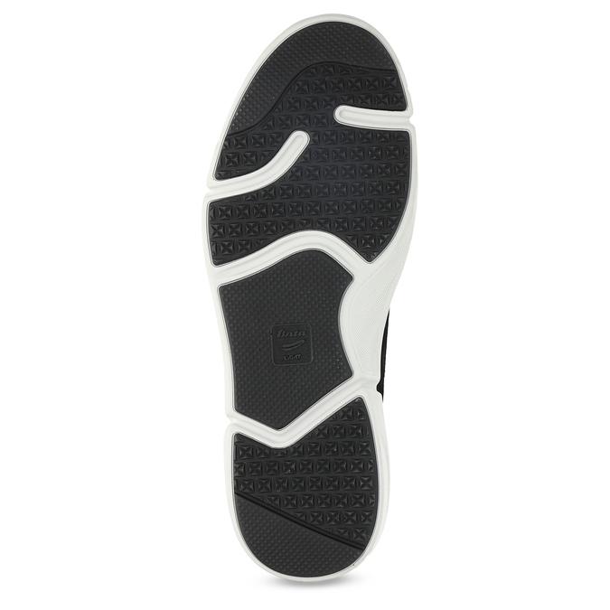 Kožené pánské tenisky černé bata-light, šedá, 846-2712 - 18
