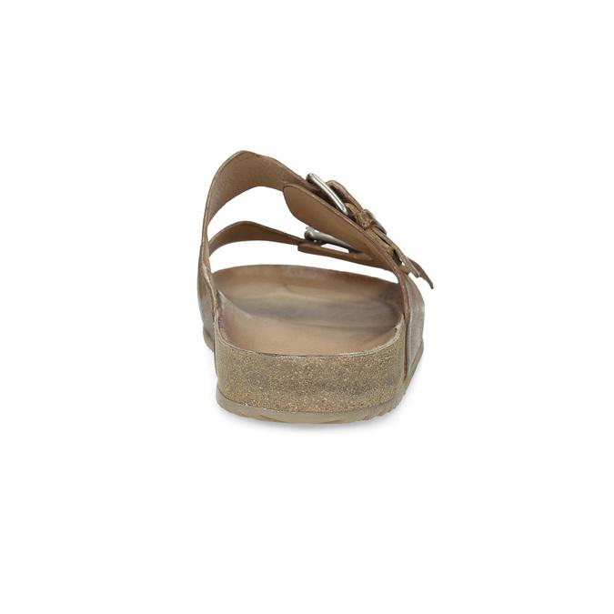 Pánské kožené nazouváky bata, hnědá, 866-4648 - 15