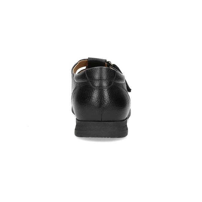 Kožené pánské sandály s pohodlnou podešví černé comfit, černá, 854-6602 - 15