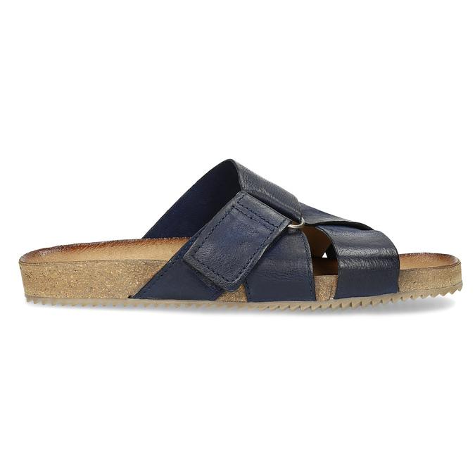 Kožené modré nazouváky bata, modrá, 866-9647 - 19