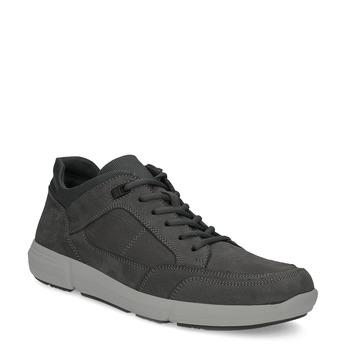 Kožené pánské tenisky černé bata-light, šedá, 846-2712 - 13