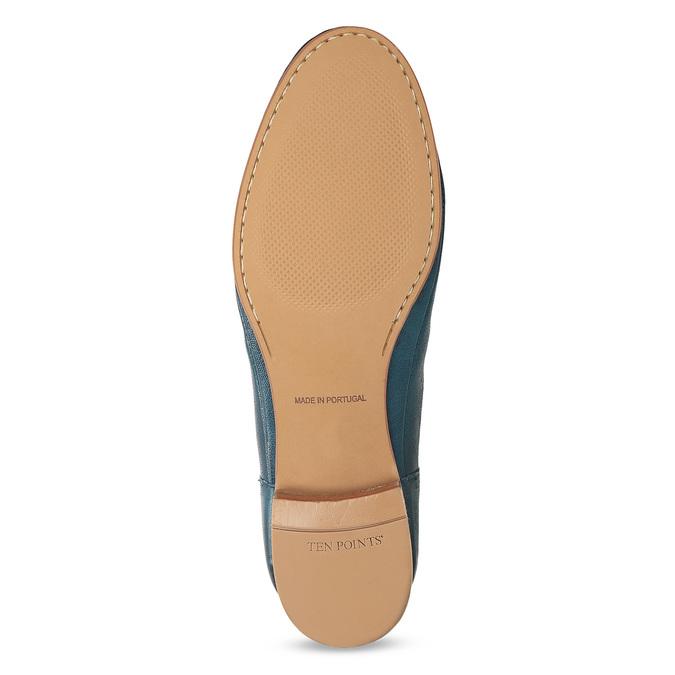 Dámské kožené modré Chelsea Boots ten-points, modrá, 516-9044 - 18